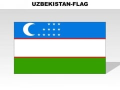Uzbekistan Country PowerPoint Flags