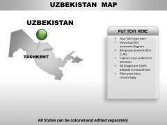 Uzbekistan Country PowerPoint Maps