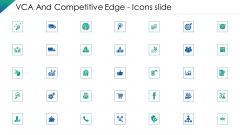 VCA And Competitive Edge Icons Slide Ppt Model Deck PDF
