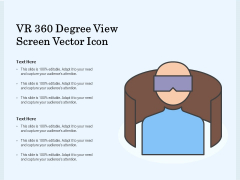 VR 360 Degree View Screen Vector Icon Ppt PowerPoint Presentation Gallery Format PDF