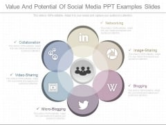 Value And Potential Of Social Media Ppt Examples Slides