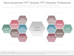 Value Assessment Ppt Template Ppt Examples Professional