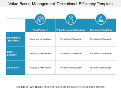 Value Based Management Operational Efficiency Template Ppt PowerPoint Presentation Professional Elements