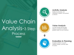 Value Chain Analysis Step Process Ppt PowerPoint Presentation Icon Professional