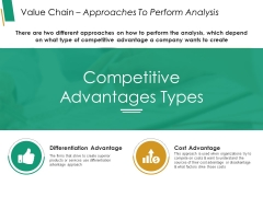 Value Chain Approaches To Perform Analysis Ppt PowerPoint Presentation Slides Graphic Images