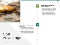 Value Chain Assessment Of Strategic Leadership Cost Advantage Ppt PowerPoint Presentation Styles Rules PDF