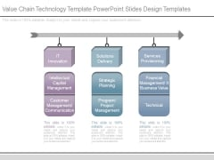 Value Chain Technology Template Powerpoint Slides Design Templates