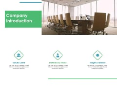 Value Creation Initiatives Company Introduction Ppt Outline Graphics Example PDF
