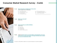 Value Creation Initiatives Consumer Market Research Survey Democrat Professional PDF