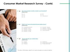 Value Creation Initiatives Consumer Market Research Survey Taxes Microsoft PDF