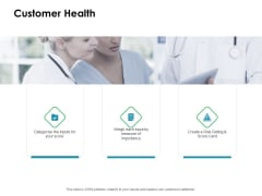 Value Creation Initiatives Customer Health Ppt Inspiration Slide Portrait PDF