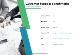 Value Creation Initiatives Customer Success Benchmarks Ppt Gallery Professional PDF