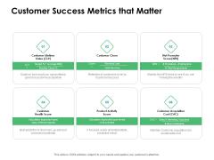 Value Creation Initiatives Customer Success Metrics That Matter Information PDF