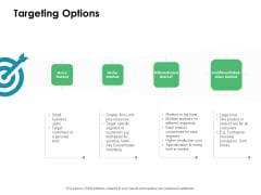 Value Creation Initiatives Targeting Options Ppt Portfolio Influencers PDF