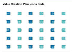 Value Creation Plan Icons Slide Ppt PowerPoint Presentation Infographics Aids