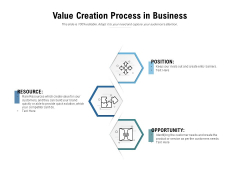Value Creation Process In Business Ppt PowerPoint Presentation Ideas Template