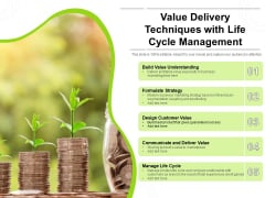 Value Delivery Techniques With Life Cycle Management Ppt PowerPoint Presentation Ideas Guide PDF
