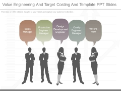 Value Engineering And Target Costing And Template Ppt Slides