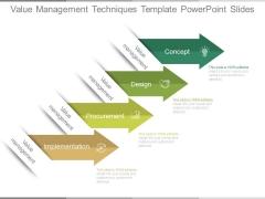 Value Management Techniques Template Powerpoint Slides