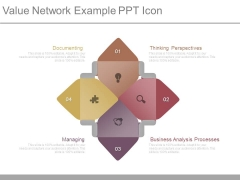 Value Network Example Ppt Icon