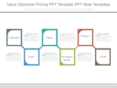 Value Optimized Pricing Ppt Template Ppt Slide Templates