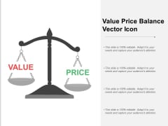 Value Price Balance Vector Icon Ppt PowerPoint Presentation Icon Guide