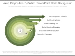 Value Proposition Definition Powerpoint Slide Background