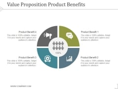 Value Proposition Product Benefits Template 2 Ppt PowerPoint Presentation Influencers