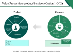 Value Proposition Product Services Template 1 Ppt PowerPoint Presentation Infographic Template Visuals
