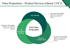 Value Proposition Product Services Template 2 Ppt PowerPoint Presentation Layouts Deck