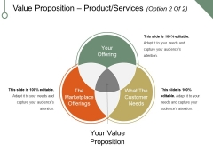 Value Proposition Product Services Template 2 Ppt PowerPoint Presentation Professional Visuals