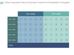 Value Proposition Record Example Powerpoint Presentation Templates