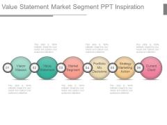 Value Statement Market Segment Ppt Inspiration