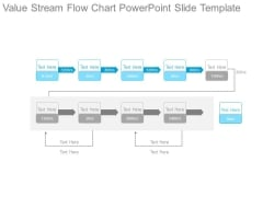 Value Stream Flow Chart Powerpoint Slide Template