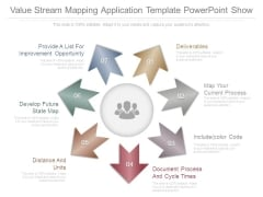 Value Stream Mapping Application Template Powerpoint Show
