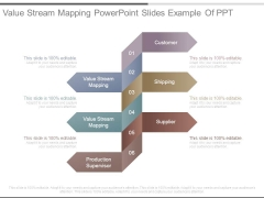 Value Stream Mapping Powerpoint Slides Example Of Ppt