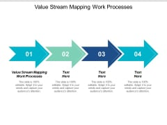 Value Stream Mapping Work Processes Ppt PowerPoint Presentation Outline Themes Cpb
