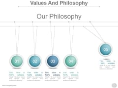 Values And Philosophy Ppt PowerPoint Presentation Designs Download