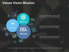 Values Vision Mission Ppt PowerPoint Presentation Outline Designs Download