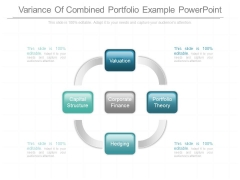 Variance Of Combined Portfolio Example Powerpoint