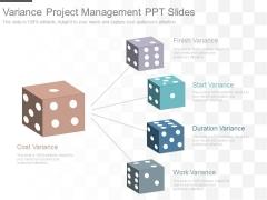 Variance Project Management Ppt Slides