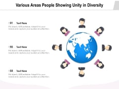 Various Areas People Showing Unity In Diversity Ppt PowerPoint Presentation Icon Outline PDF
