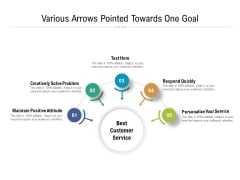Various Arrows Pointed Towards One Goal Ppt PowerPoint Presentation Gallery Slide Download PDF