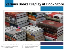 Various Books Display At Book Store Ppt PowerPoint Presentation Ideas Brochure PDF