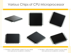 Various Chips Of CPU Microprocessor Ppt PowerPoint Presentation Slides Aids PDF