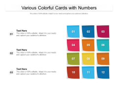 Various Colorful Cards With Numbers Ppt PowerPoint Presentation File Good PDF