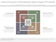 Various Components Of Web Marketing System Diagram Ppt Example