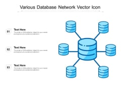 Various Database Network Vector Icon Ppt PowerPoint Presentation File Graphics Design PDF