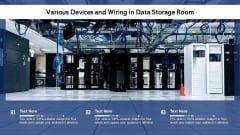 Various Devices And Wiring In Data Storage Room Ppt PowerPoint Presentation File Pictures PDF