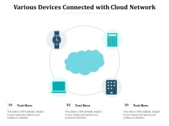 Various Devices Connected With Cloud Network Ppt PowerPoint Presentation Infographics Background Image PDF